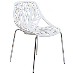 Stencil Dining Side Chair, EEI-651-WHI