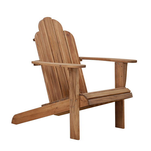 Slatted Wooden Outdoor Chair with Arched High Backrest, Teak Brown
