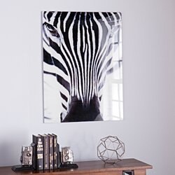 Buy name plaque 6 letter personalized door sign chevron baby the zebra glass wall art negle Images