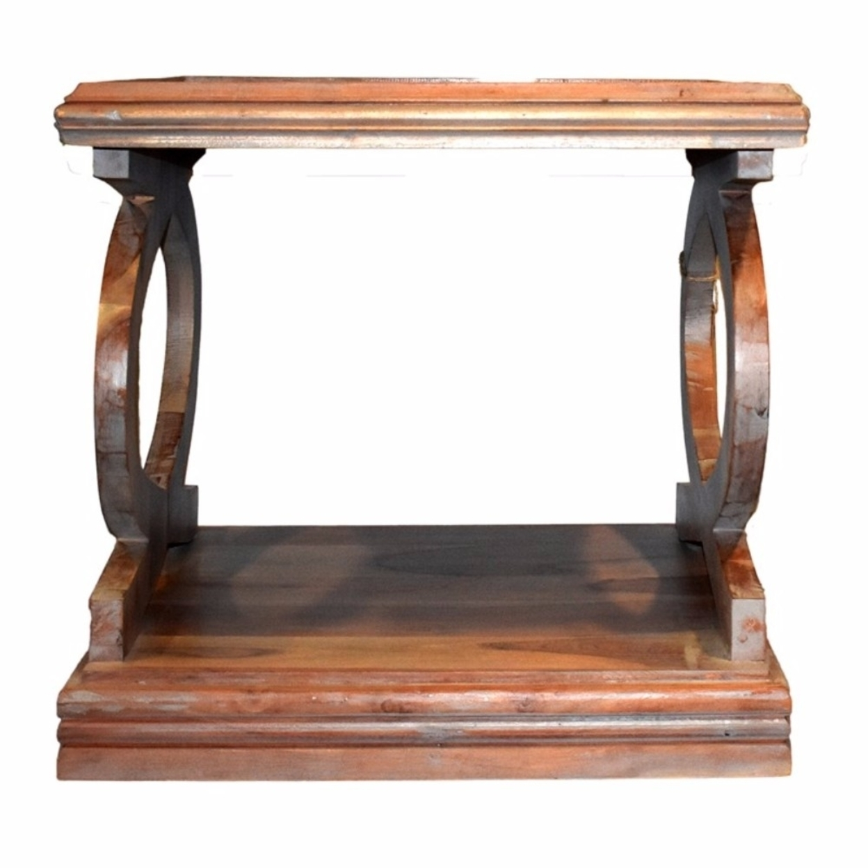 Transitional Style Sturdy Wooden Side Table, Brown 5a1bec4c2a00e409e16a2e64