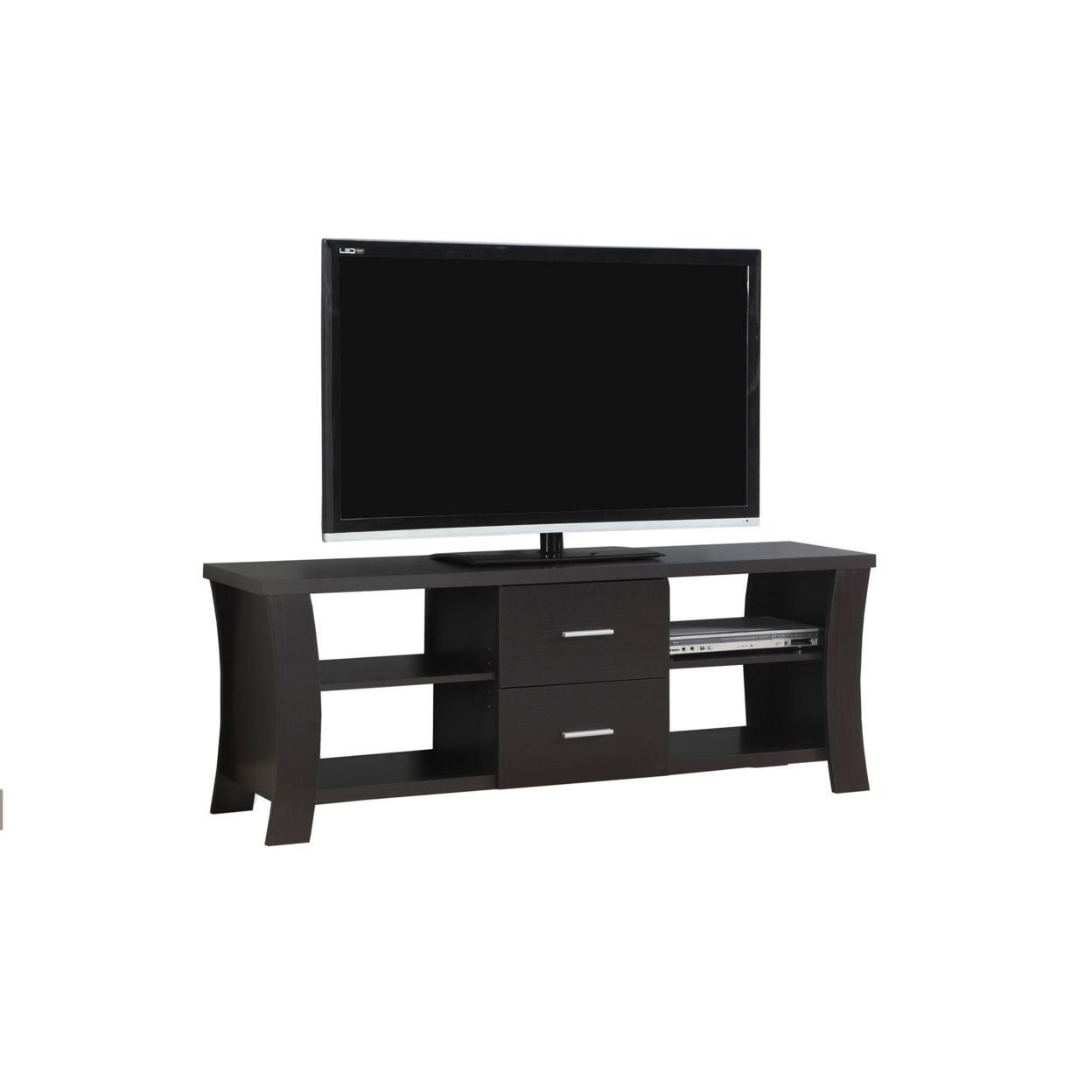 "TV Stand - 60""l, Cappuccino With 2 Drawers, 2683 5a5461f22a00e41a3d4fa5d6"