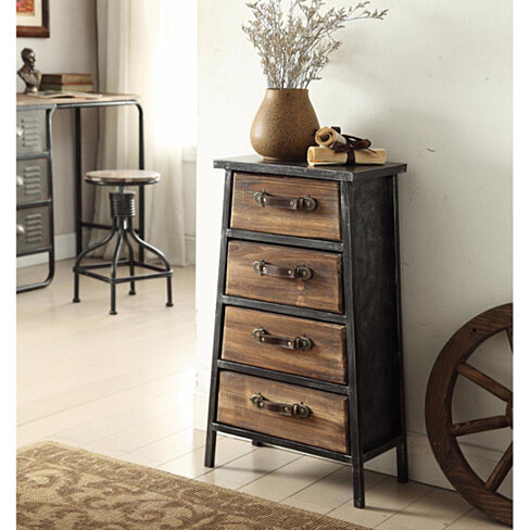 Urban Collection 4-Drawer Wood Chest