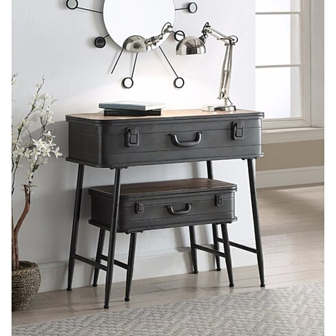 Urban Loft Metal 2 Trunk Tables