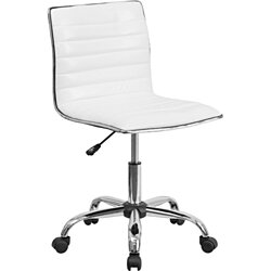 White Ribbed Task Chair White