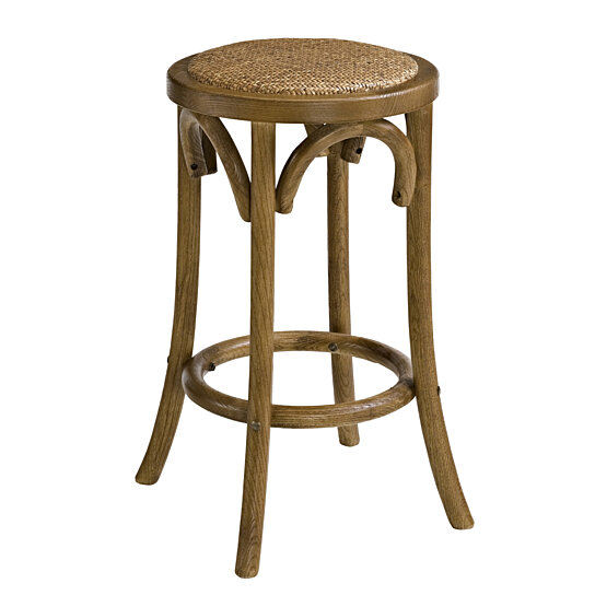 Peachy Wooden Counter Stool With Weave Top And Flared Legs Dark Brown Uwap Interior Chair Design Uwaporg