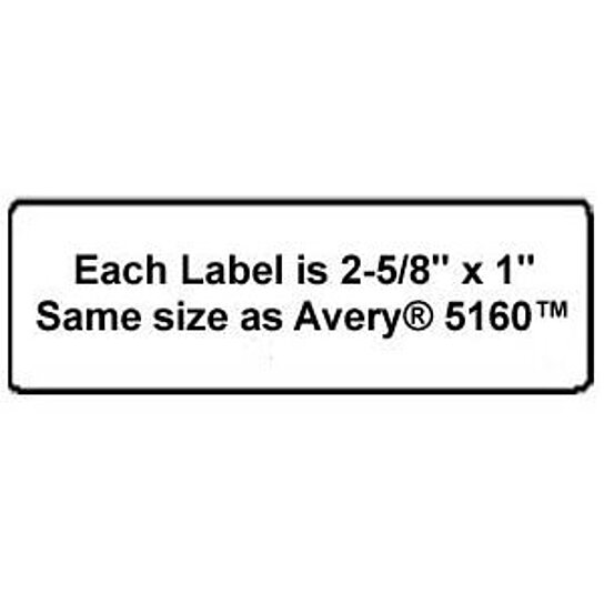 buy high quality name and address mailing labels 30 labels per sheet 2 5 8 inch x 1 white. Black Bedroom Furniture Sets. Home Design Ideas