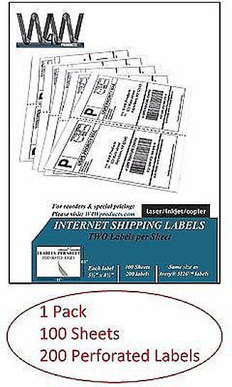 2 000 Half Sheet 5126 Shipping Labels For Ebay Paypal Bpa
