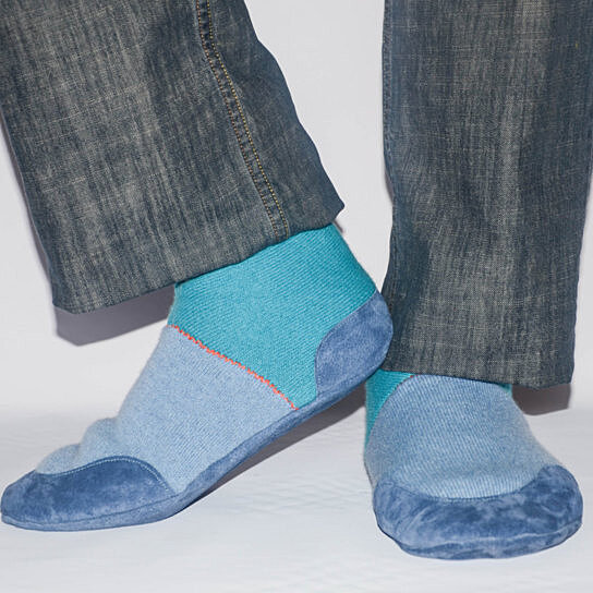 Eco Friendly Slippers: Buy Men Slipper Socks With Leather Soles, Men Cashmere