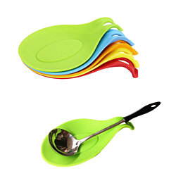 4Pc/Set Silicone Spoon Mat Heat Resistant Tool