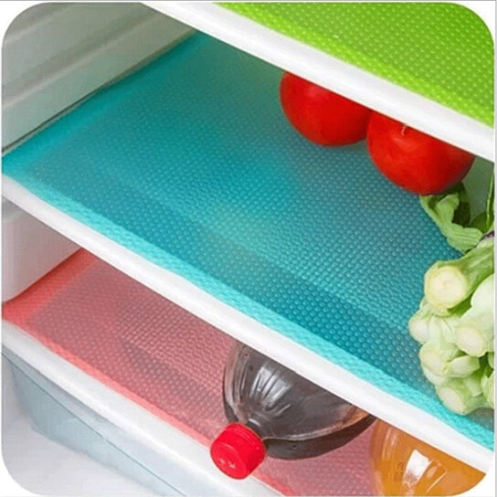 Buy 4 Piece Antibacterial Waterproof Refrigerator Drawer Liners