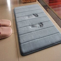 Water Absorption Memory Foam Bath Mat