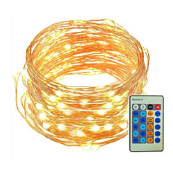 LED String Lights 33 ft with 100 LED decorative Lights