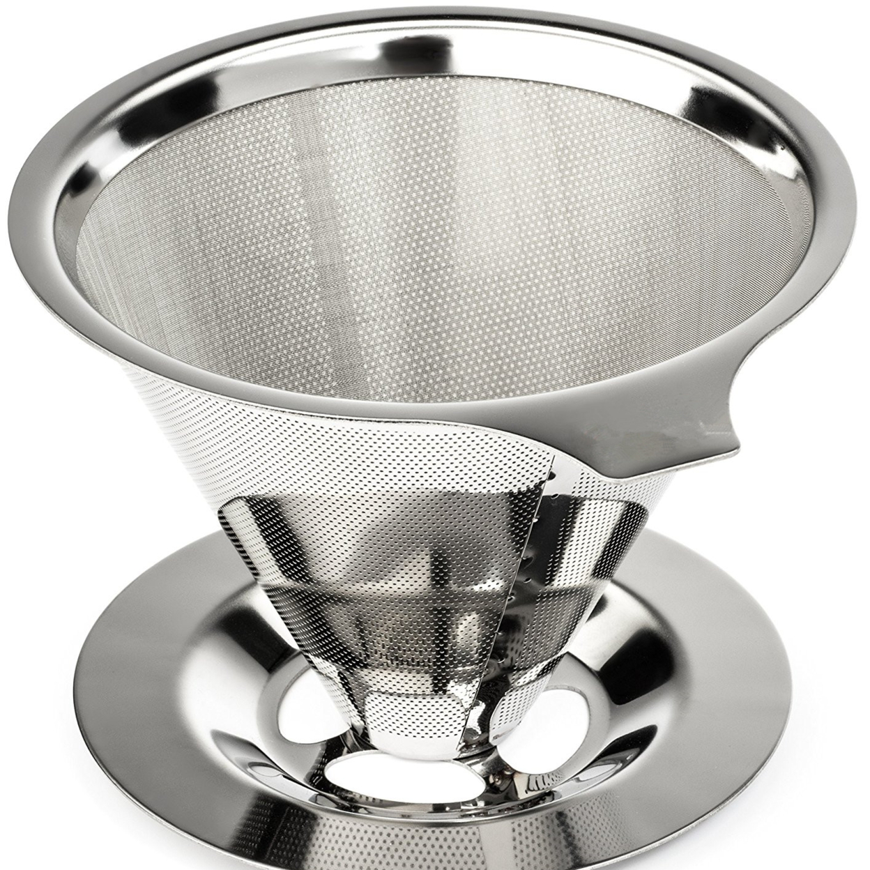Paperless Pour Over Coffee Maker, 18\\8 (304) Stainless Steel Reusable Drip Cone Coffee Filter, Single Cup Coffee Brewer 59ad1e56cd5c8633c905208d