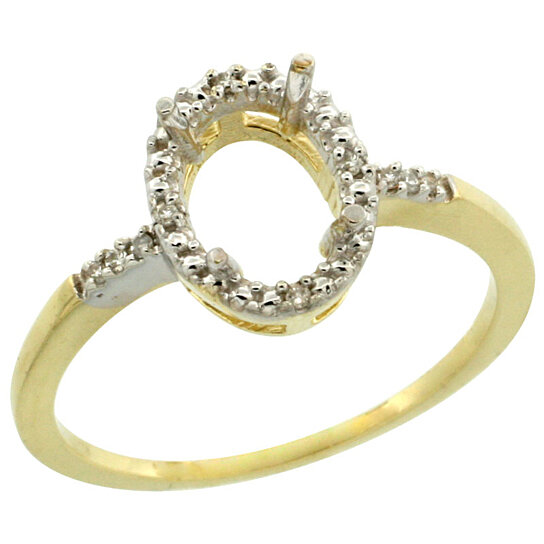 Trampoline Sale 55 8 11 12 13 14 15 17 X15 Oval: Buy 10k Gold Semi-Mount ( 8x6 Mm ) Oval Stone Ring W/ 0