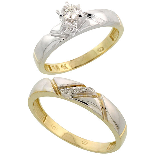 gold wedding rings for her buy 10k yellow gold 2 wedding engagement 4557