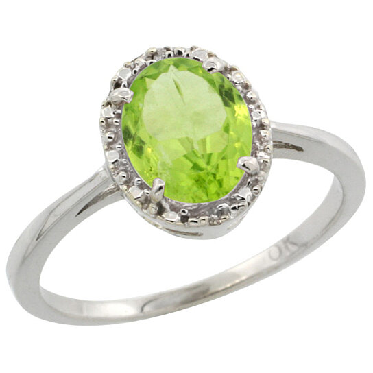 Trampoline Sale 55 8 11 12 13 14 15 17 X15 Oval: Buy 14K White Gold Natural Peridot Ring Oval 8x6 Mm