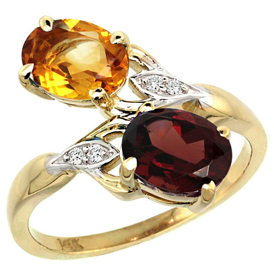 Trampoline Sale 55 8 11 12 13 14 15 17 X15 Oval: Buy 14k Yellow Gold Citrine & Garnet 2-stone Mother's Ring
