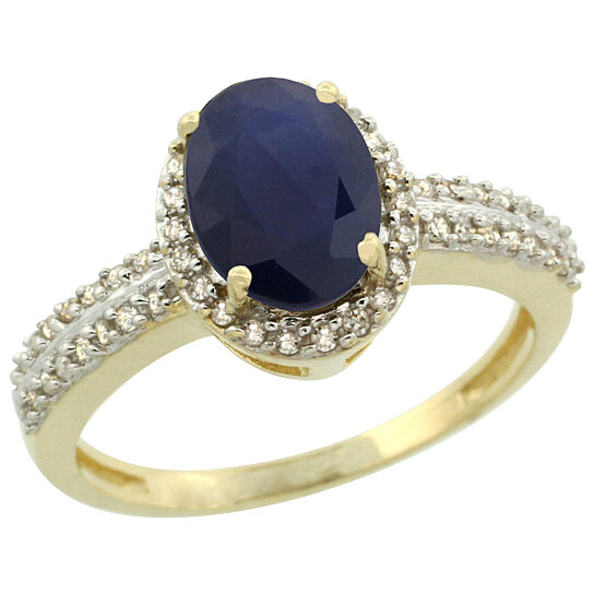 Trampoline Sale 55 8 11 12 13 14 15 17 X15 Oval: Buy 14K Yellow Gold Natural High Quality Blue Sapphire