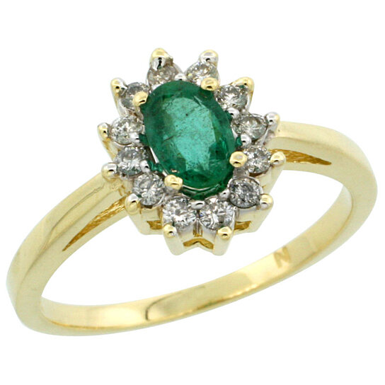 Trampoline Sale 55 8 11 12 13 14 15 17 X15 Oval: Buy 14K Yellow Gold Natural High Quality Emerald Diamond