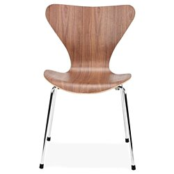 Modholic Jacobsen 7 Jays Walnut Dining Chair Set of 2