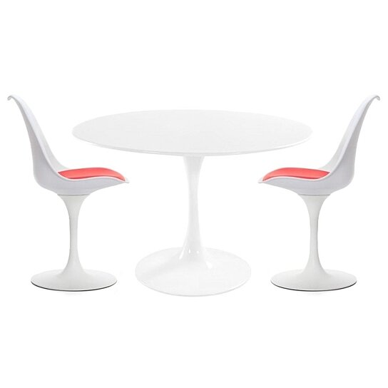 Buy Modholic Tulip Dining Set 36 Table 2 Chairs By World Modern Design On Dot Bo