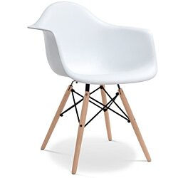 Modholic Paris Eiffel Style Woodleg Modern Dining Arm Chair