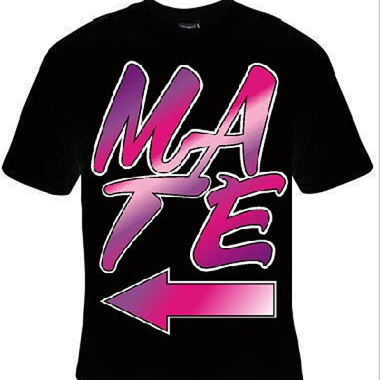 Buy Mate Shirt Purple Color Mate With Arrow Pointing