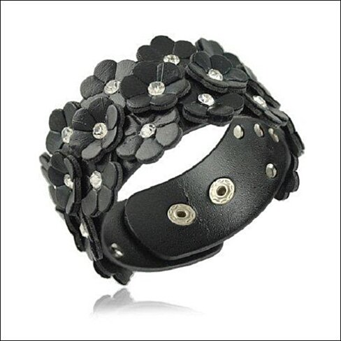 Buy Flower Punk Bracelet : Black by Izla Latina, Inc. on ...