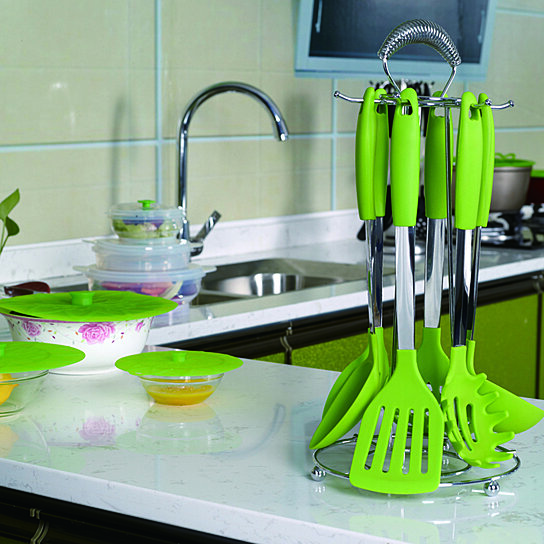 Kitchen Utensil Nonstick Silicone Kitchen Utensil Set of 6 Kitchen Cooking  Utensil Set