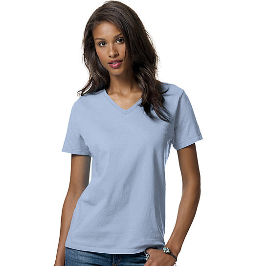 Buy 3 pack hanes women 39 s comfortsoft v neck t shirts Relaxed fit women s v neck t shirt