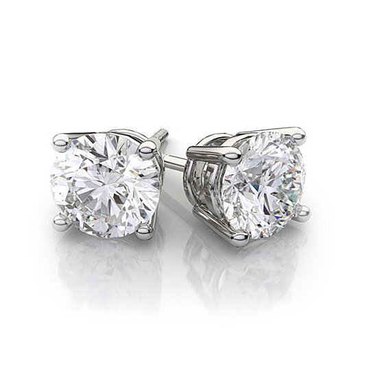 9abe90f7901 Buy Solid 14K White Gold Earrings with Swarovski Elements Crystals  (Multiple Sizes) by yeidid international on OpenSky