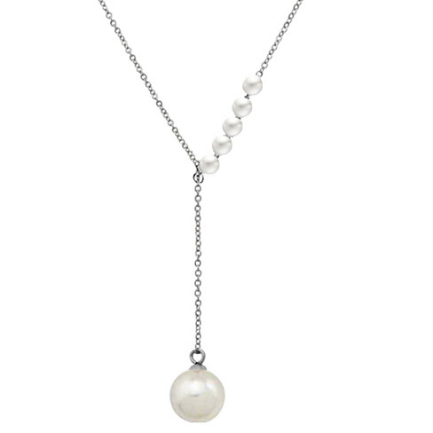 18k Gold Plated Freshwater Pearl Y Necklace