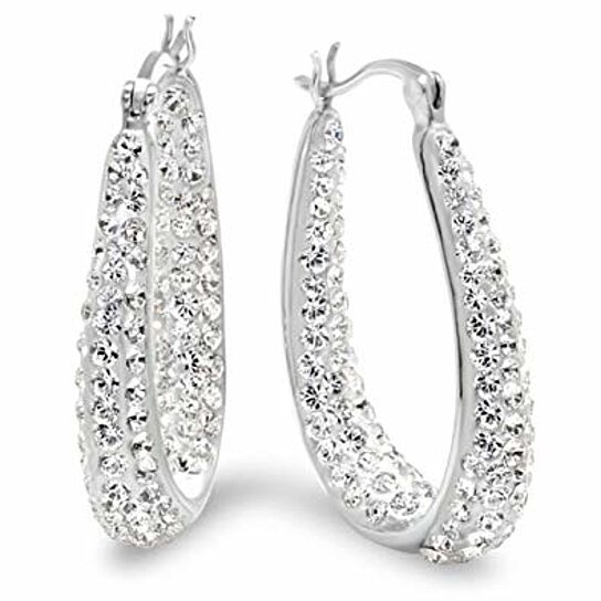 Swarovski Element Crystal Hoop Earrings