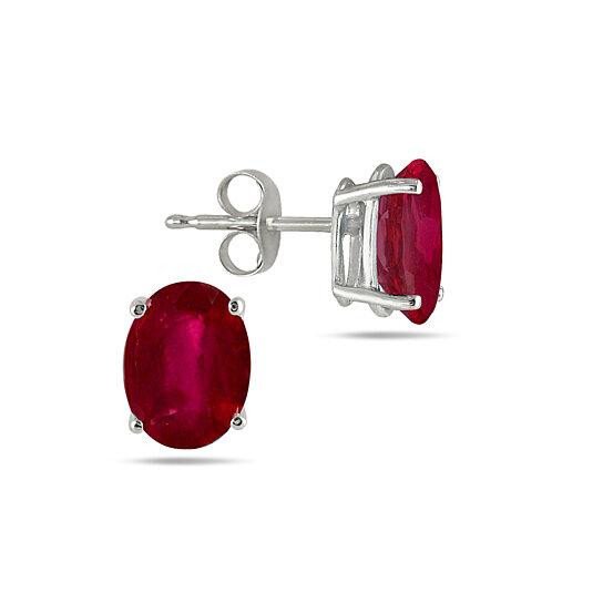 2 00 Cttw Genuine Ruby Gemstone Oval Cut Studs By Yeidid International On Opensky