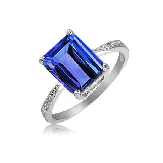 buy 4 00 cttw genuine tanzanite emerald cut ring by yeidid
