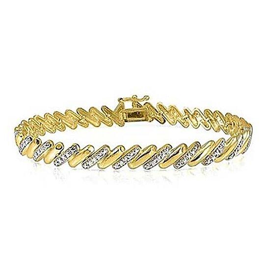 Genuine Diamond Accent San Marco Bracelet In 18k Gold By Yeidid International On Opensky