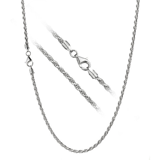 chain sterling combined necklace sn silver solid chains figaro