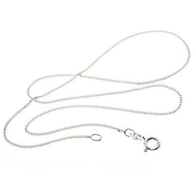 "Italian Sterling Silver Chains, 16"" to 30"""