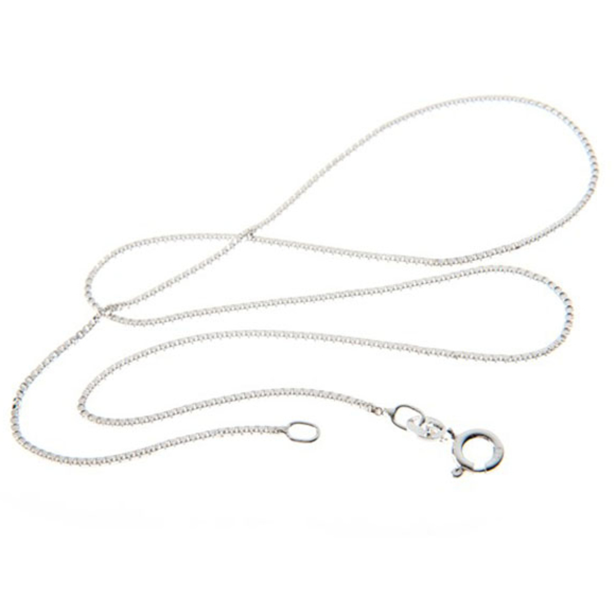 """Italian Sterling Silver Chains 16\"""" To 30\"""" In 5 Designs Box, 16"""