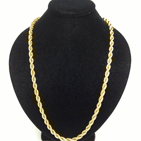 Solid 10k Yellow Gold 3mm Rope Chain