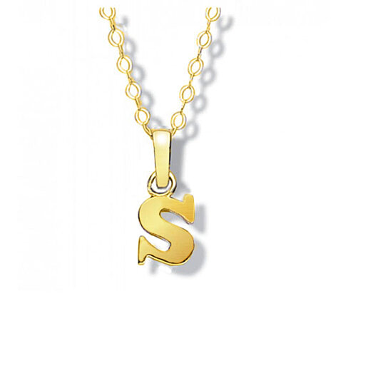 Buy solid 14k yellow gold s initial pendant by yeidid international buy solid 14k yellow gold s initial pendant by yeidid international on opensky aloadofball Choice Image