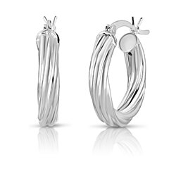c5ef2289d Solid Sterling Silver Swirl Hoops Available in Three Sizes - 20mm, 30mm,  40mm