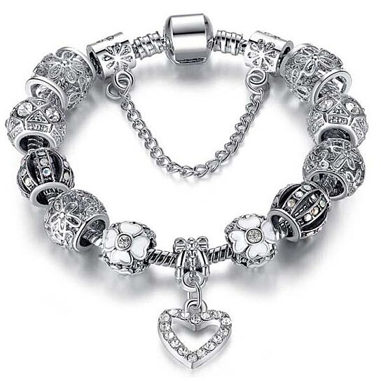 Swarovski Charm Bracelets: Buy Swarovski Elements Crystal Heart Charm Bracelet By