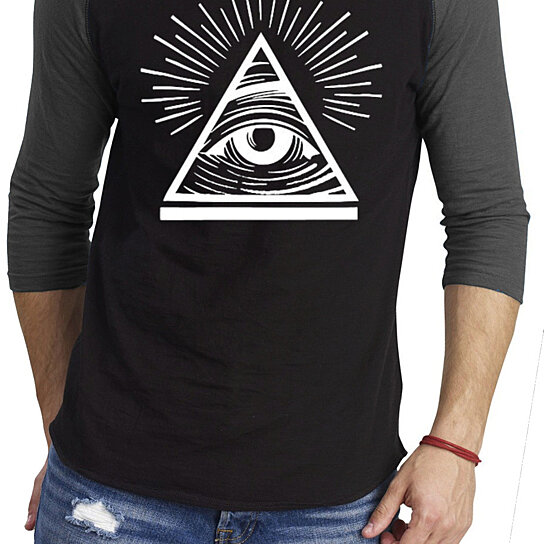 Buy ym wear eye of providence all seeing eye baseball athletic 3 4