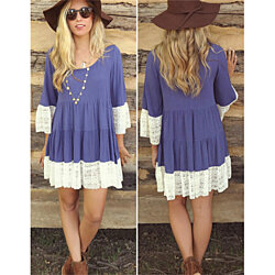 Fun & Flirty Lace Dress- 2 Colors