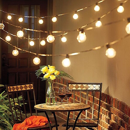 buy solar edison style patio led string lights by