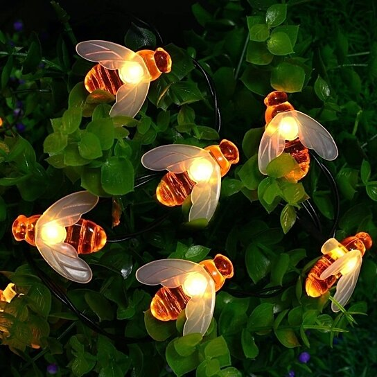 Charming Buy Solar Powered String Lights 30 LED Honey Bee Shape For Garden Decoration  By Youphoreah On OpenSky