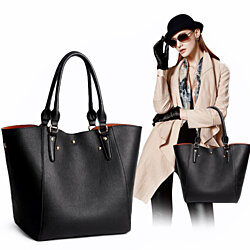 High-quality Leather Handbags Messenger Bag Classic Tote  Bags +Free Gift -Random Necklace