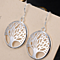 Silver Tree of life Earring