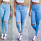 Summer Cool Wash Hote Denim Jean Pants for Women